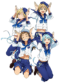 Ra*bits Anime Wallpaper Transparent