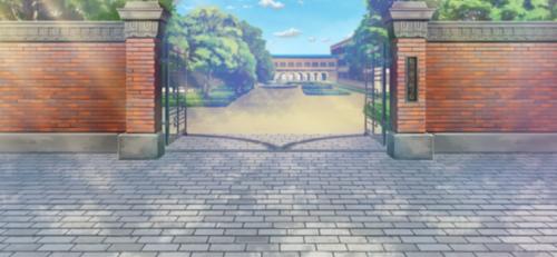 Yumenosaki School Gate Entrance Full