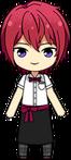 Tsukasa Suou Cafeteria Apron uniform chibi