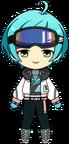 Kanata Shinkai Snowboarder Outfit chibi