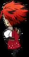 Kuro Kiryu AKATSUKI Uniform chibi back
