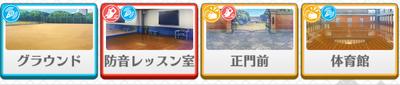 Trickstar lesson Makoto Yuuki locations