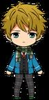 Midori Takamine Student Uniform (Winter + Scarf) chibi