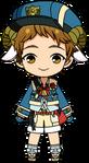 Mitsuru Tenma Postal Delivery Outfit chibi