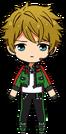 Midori Takamine Patrol Hero Outfit chibi