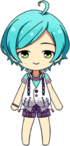 Kanata Shinkai Deep Sea Costume chibi