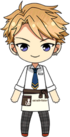 Arashi Narukami Student Uniform with Cat Cafe Apron chibi