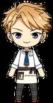 Arashi Narukami Student Uniform with Cat Cafe Apron chibi