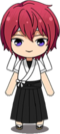 Tsukasa Suou Archery Uniform (White Team) chibi