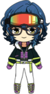 Tsumugi Aoba Snowboarder Outfit chibi