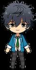 Jin Sagami Student Uniform chibi