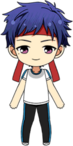 Yuzuru Fushimi PE Uniform (Red Team) chibi