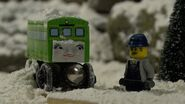 Snow Problem Daisy and her driver