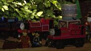Skarloey and Rheneas at night