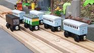 Narrow gauge coaches and van