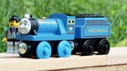Bert the blue miniature engine