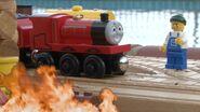 James near fire