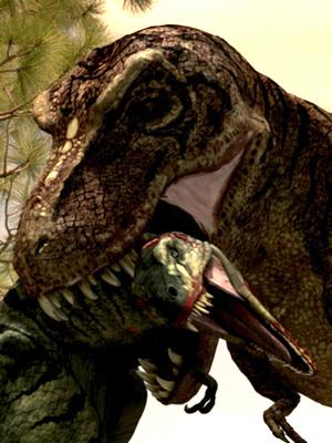 File:Pygmy Tyrannosaurid vs. Tyrannosaurus.jpg