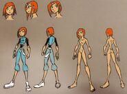Gwen Tenalds, Earth attire and Anatomy