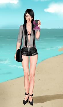Nikuss na plaży