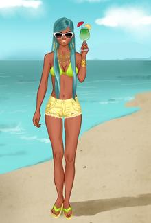 Princess na plaży