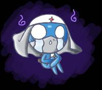 Very sad blue Dororo