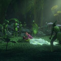MK first sees the Leafmen, while attempting to protect Tara.