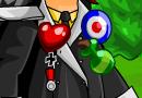 Heart Pin + Potion Badge + Target Badge