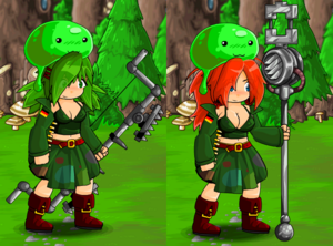 Camo Skirt and Slime Hat