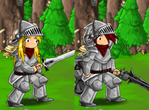 Knight Armor and Helmet