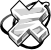 Flair Silver Cross