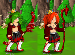 Flame Skirt and Gold Crown
