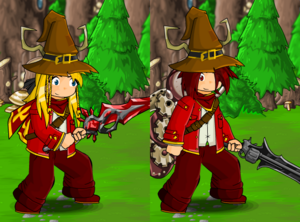 Red Jacket and Mage Hat