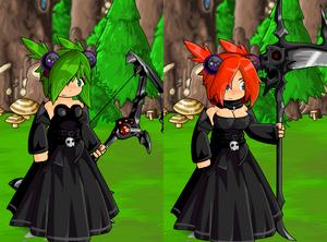 Dark Gown and Dark Bauble