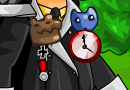 Beast Badge + Pocket Clock + Cat Badge