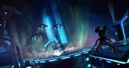 Epic mickey mickey sees the spacecraft