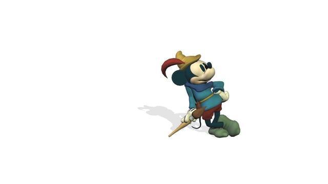 Mickey LeanOnBrush