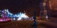 Oswald shocking a spatter