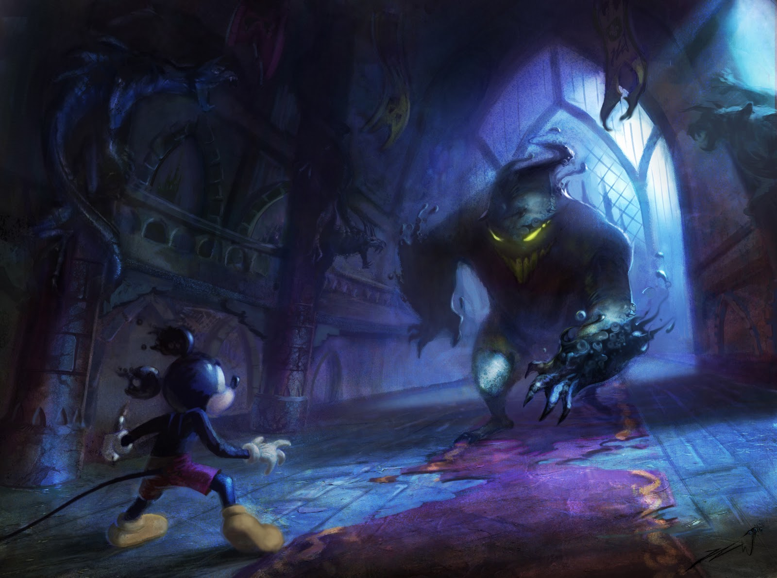 Epic Mickey Throne Room Paintings