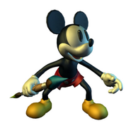 Mickey double sided brush