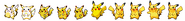 Pikachu over the years