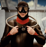 Jacques Cousteau In SCUBA Gear