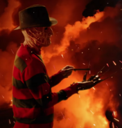 Krueger using a nail file