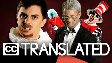 TRANSLATED Dr. Seuss vs William Shakespeare. Epic Rap Battles of History