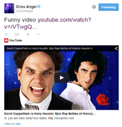 Criss Angel Twitter Response