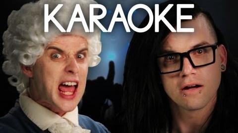 KARAOKE ♫ Mozart vs Skrillex. Epic Rap Battles of History