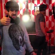 Smosh in the recording room