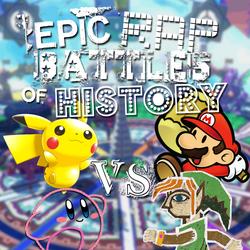 Paper Mario vs Painting Link vs Toy Pikachu vs Yarn Kirby