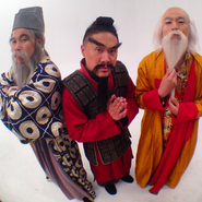 The Eastern Philosophers Standing in a White Background