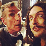 """Weird Al"" and Bill Nye Selfie"